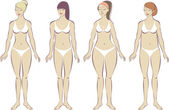 Set of female body types — Stock Vector