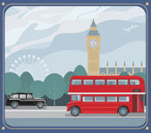 London sightseeing — Stock Vector