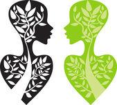 Herbal medicine concept — Stock Vector