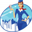 Flight attendant — Stock Vector #31630043