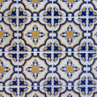 Handmade tiles pattern in Porto, Portugal. — Stock Photo