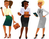 Businesswomen set — Stock Vector