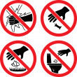 Forbidding Vector Signs — Stock Vector