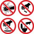 Stock Vector: Forbidding Vector Signs