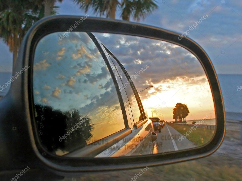 Car Mirror Reflection — Stock Photo © quackersnaps #1374634