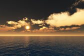 Gold Sunset over the Sea — Stock Photo