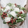 Stock Photo: Bride's Floreal Bouquet