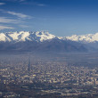 Panoramic View of Turin City from Superga Hill — Stock Photo #37182869