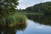 Quiet Lake of Saissersee near Velden am Worthersee (Carinthia, A — Stock Photo