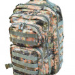 Camouflage backpack isolated on white - Zdjcie stockowe