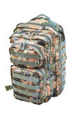 Camouflage backpack isolated on white — Stock Photo