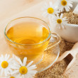 Herbal tea with chamomile — Stock Photo