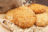 Cookies with sesame seeds — Stock Photo