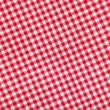 Ed and white checkered tablecloth background, texture — Stock Photo