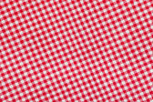 Ed and white checkered tablecloth background, texture — Stockfoto
