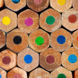 Color pencils background closeup — Stock Photo
