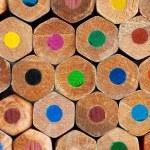 Color pencils background closeup — Stock Photo