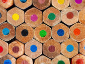 Color pencils background closeup — Foto Stock