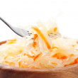Cabbage salad and fork - Stock Photo