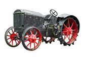 Vintage tractor isolated on white background — Stok fotoğraf