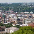 Top view of the Lvov city from height — Stock Photo #28538951
