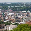 Top view of the Lvov city from height — Stock Photo