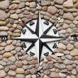 Stock Photo: Wind rose on stone background
