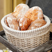 Wholemeal bread in a basket — Stock Photo