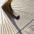 Closeup of bronze sundial — Photo