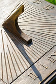 Closeup of bronze sundial — Stock Photo