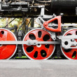 Steam locomotive wheels — Stock Photo #37175333