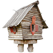 Fairy witch house on chicken legs from folklore, isolated — Stock Photo