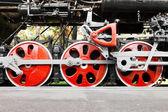 Dampf-lokomotive-räder — Stockfoto