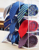 Set of rolled up neck ties — Stock Photo
