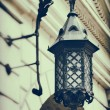 Vintage stylized photo of decorative decorative street lamp — Stock Photo