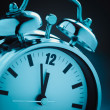 Stockfoto: Blue alarm clock