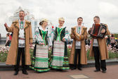 Minsk, Belarus, 09-May-2014: celebration of Ice Hockey World Cha — Stock Photo