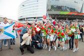 Minsk, vitryssland, 09-maj-2014: minsk-arena komplex, ishockey wor — Stockfoto