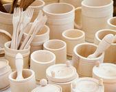 Houten keukengerei — Stockfoto