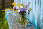 Bouquet of garden flowers and healing herbs — Foto de Stock
