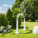 Decorated Romantic Wedding place — Zdjęcie stockowe #49213705