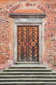 Entrance door in old castle — Stock Photo