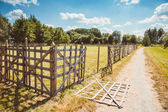 Wooden rustic fence — Stock Photo