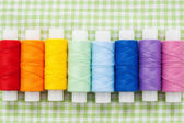 Spools of colorfull thread — Stock Photo