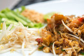 Close up image of Thai food Pad thai , Stir fry noodles with shr — Stock Photo