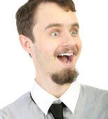 Portret młodego biznesmena uśmiechający się — Zdjęcie stockowe