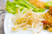 Close up image of Thai food Pad thai — Stock Photo
