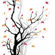 Autumn tree, vector — Stock Vector