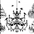 Chandelier set, vector — Stok Vektör