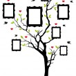 Family tree with frames, vector — Stockvectorbeeld